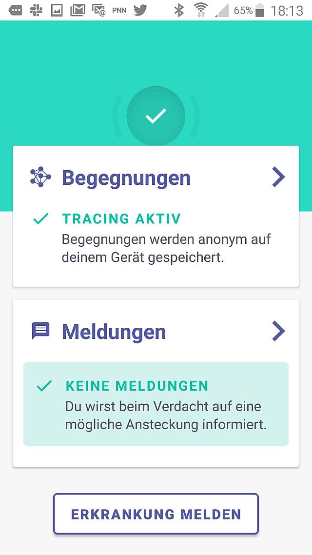 Vorläufer der Corona-Tracing-App »Next Step«